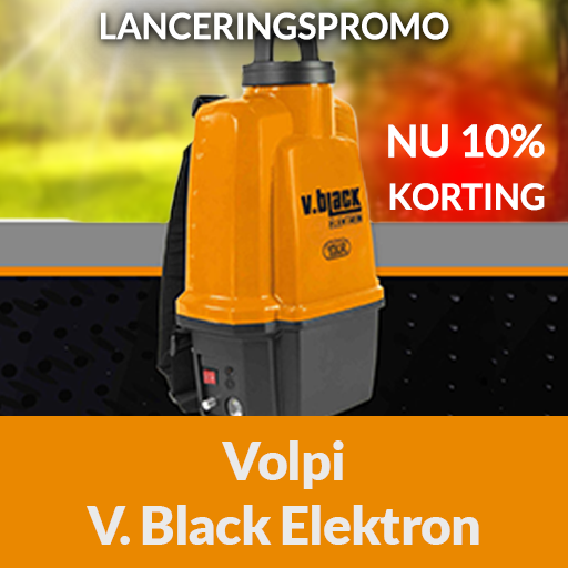 volpi v black categorie elektrische sproeier