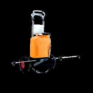 knapzaktrolley profie sproeistaaf 180mm 15l batterij 12V met onkruidverdelgingsstaaf